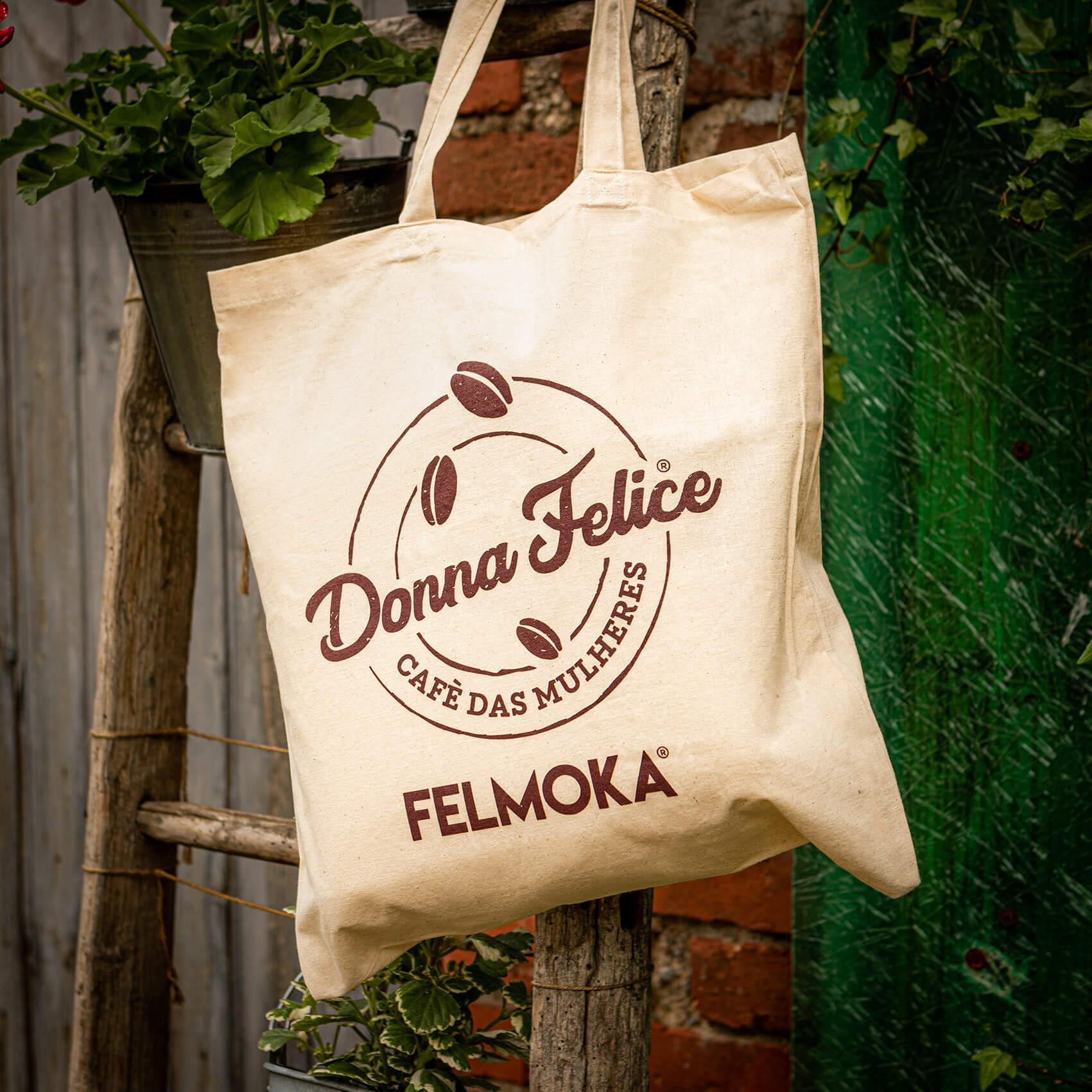 Shopper riutilizzabile in tela Donna Felice